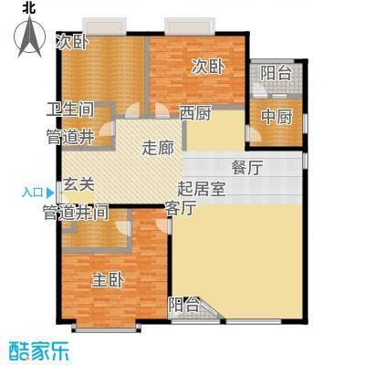 FESCO国际公寓(外企公寓)183.72㎡3室2厅2卫1厨户型