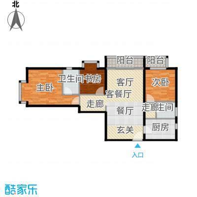 优品国际公寓98.64㎡A户型10室