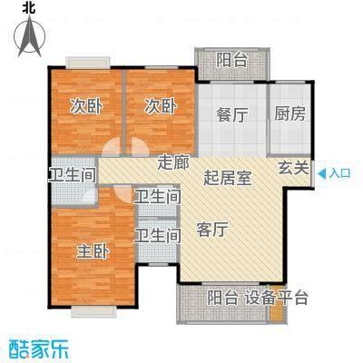 锦天・生态城132.65㎡D户型3室2厅2卫