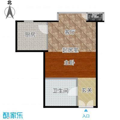 星源国际公寓52.33㎡C01户型1室1厅户型