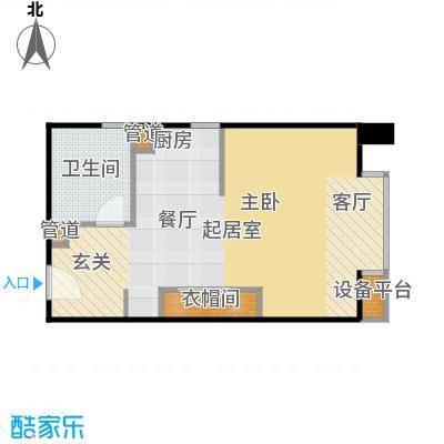 泰悦豪庭46.32㎡1室1厅户型