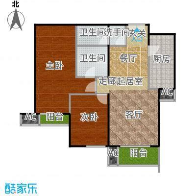 星源国际公寓A座-03户型二室二厅二卫一厨户型