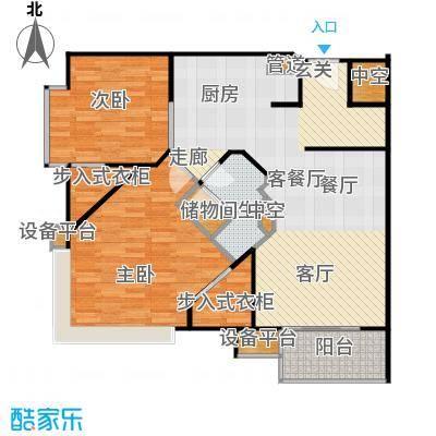 泰悦豪庭102.45㎡2室2厅户型