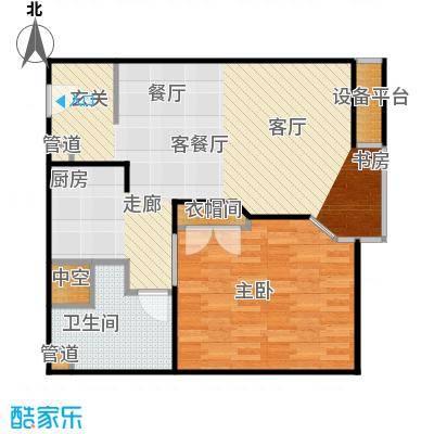 泰悦豪庭73.24㎡1室2厅户型