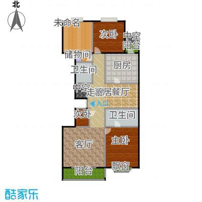 瑞景嘉园(太阳国际公馆)165.17㎡S户型三室二厅二卫户型