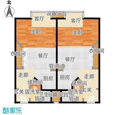 泰悦豪庭57.54㎡1室1厅户型