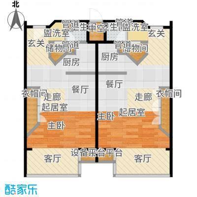 泰悦豪庭56.35㎡1室1厅户型