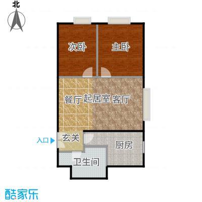 瑞景嘉园(太阳国际公馆)77.79㎡两室两厅一卫户型