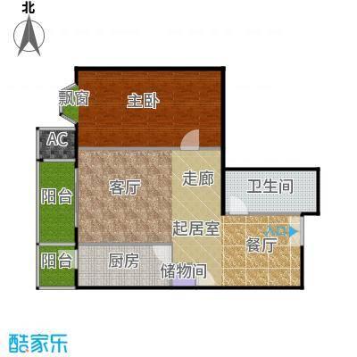 瑞景嘉园(太阳国际公馆)93.03㎡J1一室二厅一卫户型