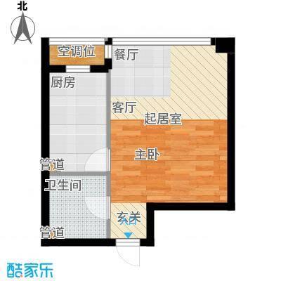 UHN国际村10号楼H户型一居户型