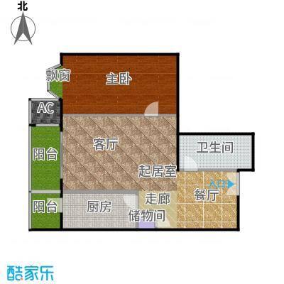 瑞景嘉园(太阳国际公馆)93.03㎡J1户型一室二厅一卫户型