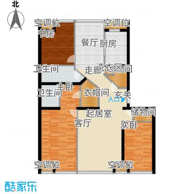 UHN国际村10号楼A户型三室二厅二卫户型