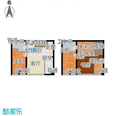 UHN国际村10号楼J户型跃层户型