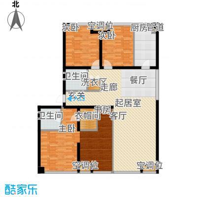 UHN国际村10号楼G户型四室二厅二卫户型