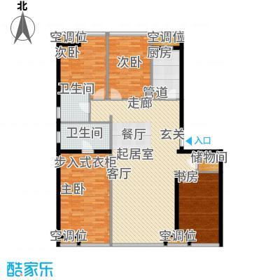 UHN国际村4号楼A户型四室二厅二卫户型