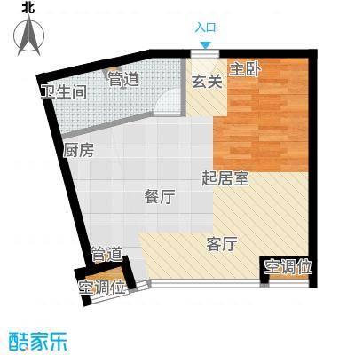 UHN国际村10号楼D户型一居户型