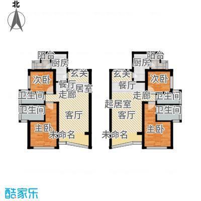 棕榈泉白金公寓139.00㎡H座B-E户型4室4卫2厨