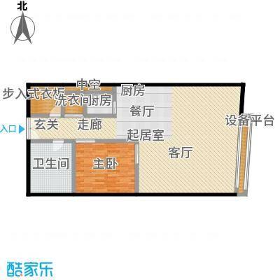 旺座中心114.95㎡1室1厅1卫户型