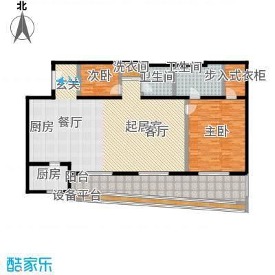旺座中心187.20㎡1室2厅2卫户型