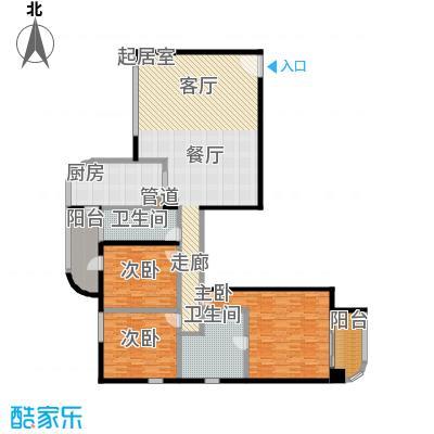 旺座中心188.38㎡3室2厅2卫1厨户型
