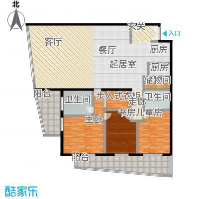 旺座中心250.70㎡三室两厅两卫户型