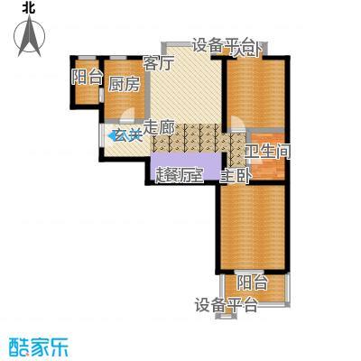 世桥国贸公寓119.48㎡丁户型