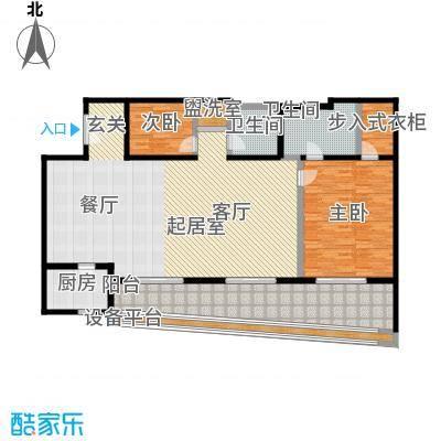 旺座中心187.20㎡两室两厅两卫户型