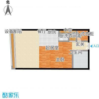 旺座中心115.41㎡1室1厅1卫户型