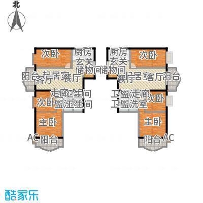 安贞雅园(富仁名苑)154.22㎡C1/C2户型 三室二厅二卫户型