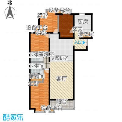 世桥国贸公寓184.55㎡D户型