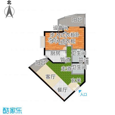 中国第一商城146.61㎡E户型两室两厅两卫户型