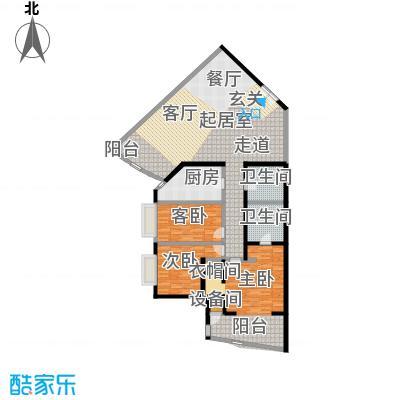 中国第一商城178.17㎡G户型纽约风情三居室户型