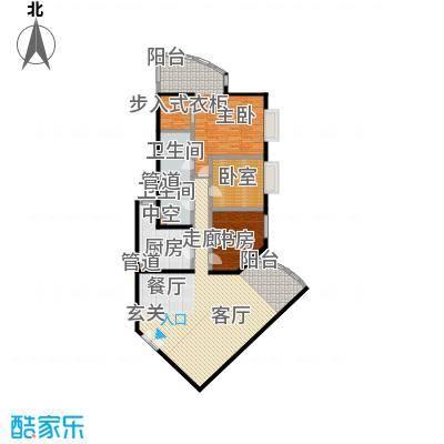 中国第一商城191.08㎡A户型三室两厅两卫户型