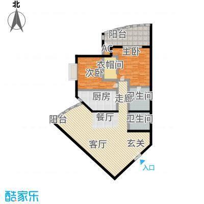 中国第一商城152.56㎡E户型丹佛阳光两居室户型