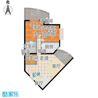 中国第一商城146.61㎡F户型两室两厅两卫户型