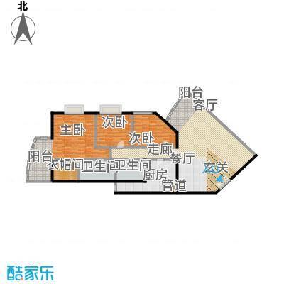 中国第一商城200.46㎡A户型丹佛阳光三居室户型