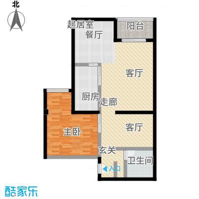 新青年公寓89.05㎡一居室户型