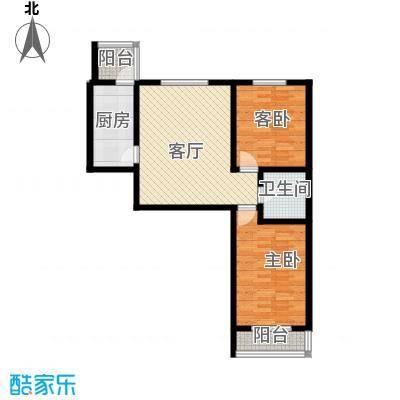天津未来城84.30㎡K户型2室1厅1卫