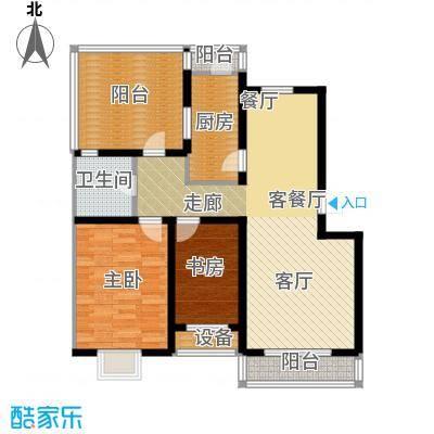 乐东馨园B'-2室2厅1卫 97.67㎡户型