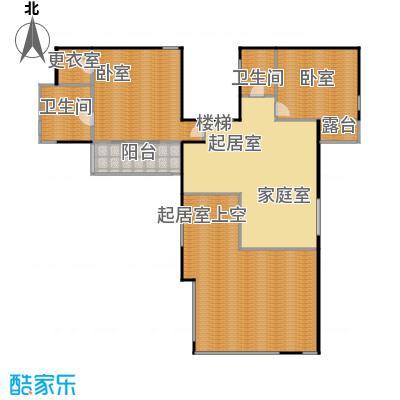 香山清琴160.38㎡350E户型二层户型