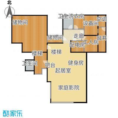 香山清琴116.59㎡350E户型地下户型