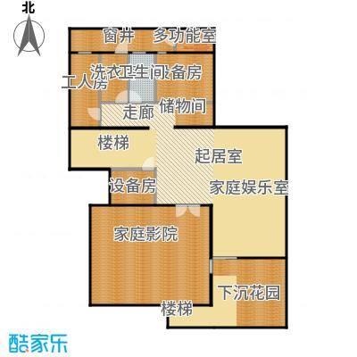 香山清琴159.80㎡350E1户型地下户型
