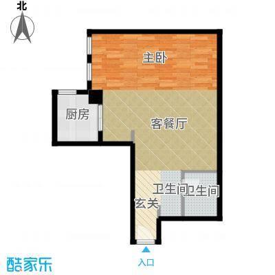 天津公馆一室两厅一卫 90平米户型