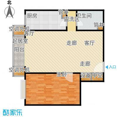 CBD总部公寓81.14㎡N2户型一室二厅一卫户型