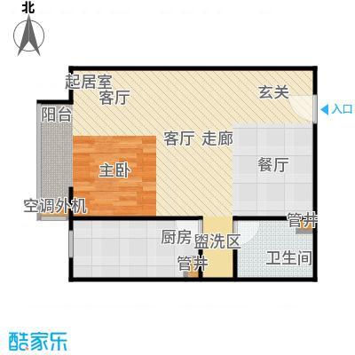 CBD总部公寓63.97㎡E3户型一室一卫户型