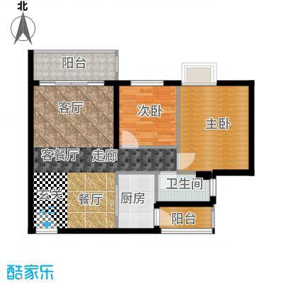 锦龙又一城户型2室1厅1卫1厨