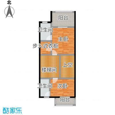 庆隆南山高尔夫国际社区69.36㎡钻石岛A二层户型2室2卫