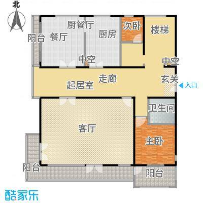 Peking House首府别墅A上户型三层平面户型