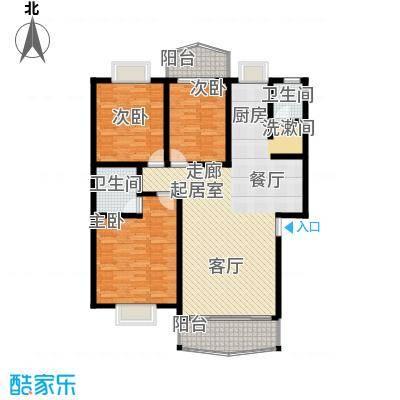 时代名城132.59㎡A4户型3房2厅2卫户型3室2厅2卫