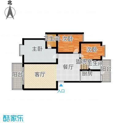 宏鑫锦江国际124.41㎡宏鑫锦江国际124.41㎡3室2厅2卫户型3室2厅2卫